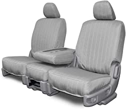 Custom Fit Seat Covers for Mercedes 500SL-600SL Front Low Back Seats - Silver Canvas Fabric