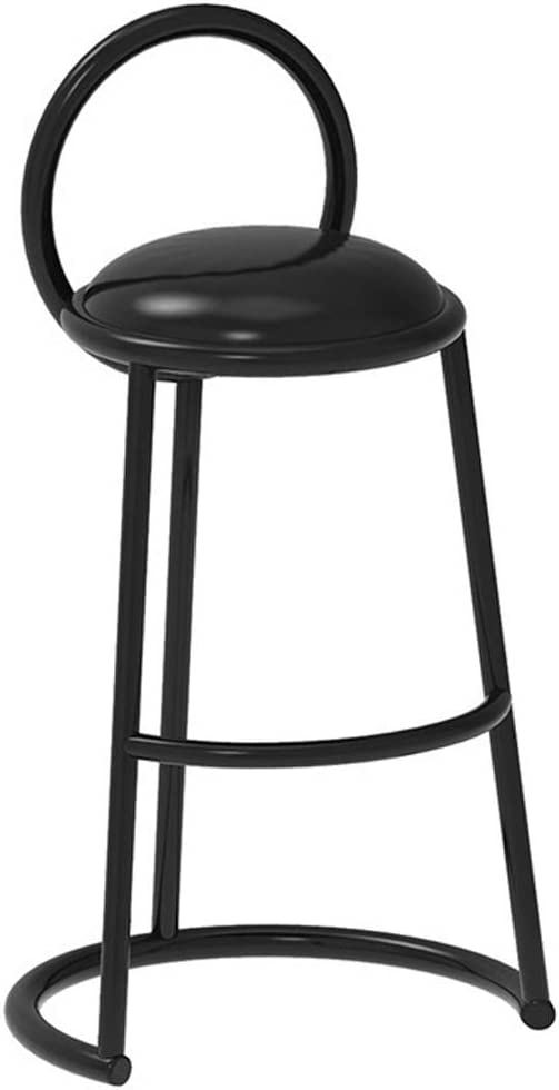 Indoor/Outdoor Barstools,Breakfast Bar Stool with Back and Chrome Footrest,Modern Bar Stool Chair Height for Pub Coffee Home Dinning Kitchen,Max Load 200kg