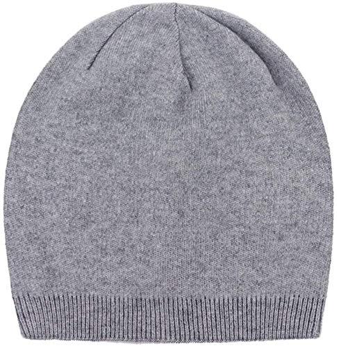 YNLRY Heat Holders - Gorro de punto casual para otoño e invierno, gorro de lana para esquí para hombre, modelo Ardent para correr, pescar, ciclismo (color: gris claro, tamaño: 55-62 cm)