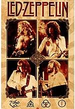 (24x36) Led Zeppelin (Group, Parchment) Music Poster Print