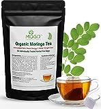 Organic Moringa Tea,50 Single Tea Bags.Energy Booster,Natural Weight Loss,Immune Booster,Stress Relief, Antioxidants Loaded Superfood Tea.