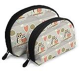 Kosmetiktasche Paar Eule Kosmetiktasche Clutch Tragbare Taschen Handtaschen Organizer