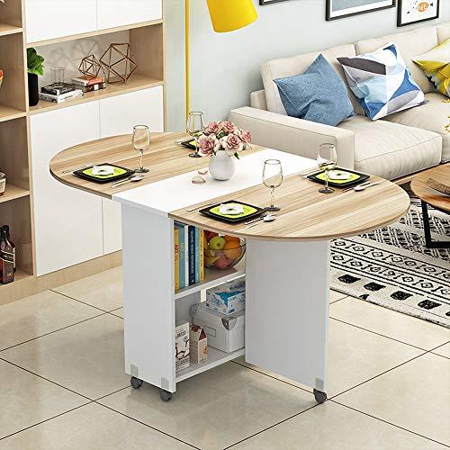 HX Semplice E Moderno Piccolo Appartamento Tavolo Pieghevole Casa Ovale Tavolo Pieghevole Tavolo da Pranzo Pieghevole Tavolo Mobile A+ (Colore : D)