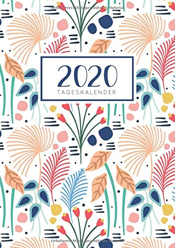 2020 Tageskalender: Tagesplaner Ein Tag pro Seite mit Jahres und Monatsübersicht   Tracking von Gewohnheiten   Din A4   VOL 3