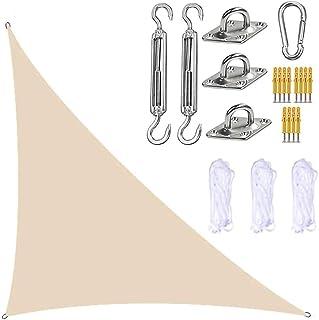 Sun Shade Sail Vattentät markis Rätvinklig triangel, Garden Sun Shade Sail Canopy med fixing Kit, 3 Ropes, UV Block, Outdo...