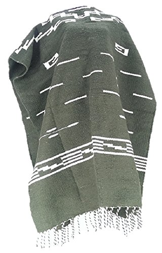 Sharpshooter Clint Eastwood for a Few Dollars More 100% Wool Western Olive Green Poncho