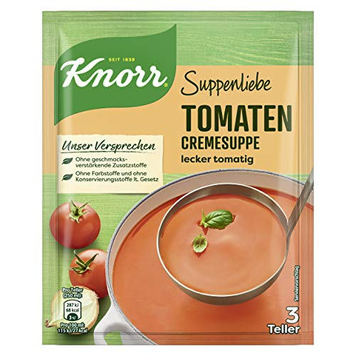 Knorr Suppenliebe Tomatencreme Suppe, 1 x 3 Teller (1 x 62 g)
