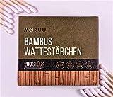 Fusselfreie Bambus Wattestäbchen/Ohrenstäbchen ohne Plastik – Für umweltbewusste Kosmetik Liebhaber | 600 Stück | Baby/Kinder geeignet | vegan | zero waste | plastikfrei | q-tips