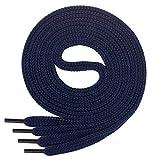 Di Ficchiano Flache SCHNÜRSENKEL für Sneaker und Sportschuhe-dunkelblau-Länge 120cm - 7mm breit