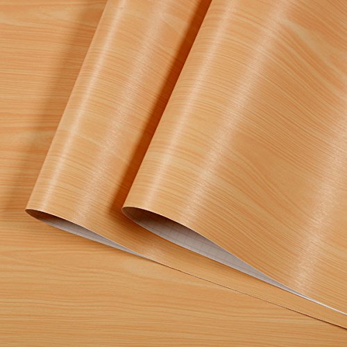 décoratifs imitation Grain de bois contacter papier Vinyle autocollant étagère Doublure de tiroir pour armoires de cuisine étagères Table Arts Crafts Autocollant 45cm x 10m