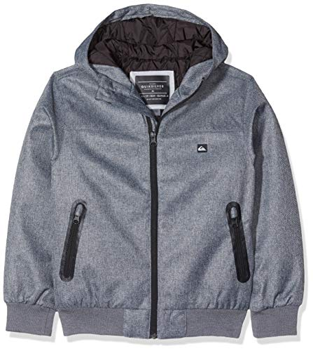 Quiksilver Brooks 5k - Chaqueta Impermeable Para Chicos 8-16 Chaqueta Impermeable, Niños, medium grey heather, XL/16