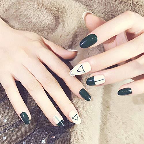 Conseils complets pour les ongles 24Pcs / Set Multi Style Faux Ongles Lady Nails Acrylique Plein Faux Ongles Conseils Nail Art Tools-Blanc-