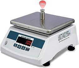 Balance de cuisine numérique étanche à 360 ° - Balance électronique de haute précision industrielle avec tare LED - Foncti...