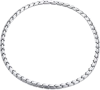 Jaline Women and Men Elegant Stainless Steel Magnetic Therapy Necklace Tone with Free Links Removal Tool,Health Function Element of Magnets,19.6 inches