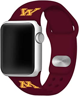 AFFINITY BANDS Minnesota Golden Gophers Silicone Watch Band Compatible with Apple Watch 42/44mm - Licensed NCAA Watch Band
