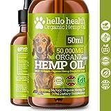 DOG CALMING HEMP OIL | High Strength Natural Organic Hemp Oil Drops For Dogs & Cats | Pet Supplement | Omega...