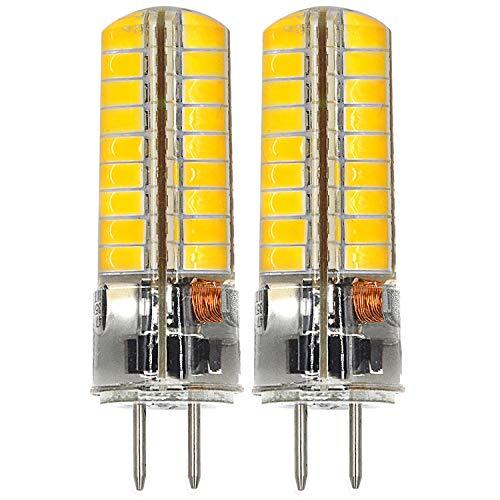 MENGS 2 Stück GY6.35 6W LED Lampe 72x5730 SMD Warmweiß 3000K AC/DC 12V Mit Silikon Mantel