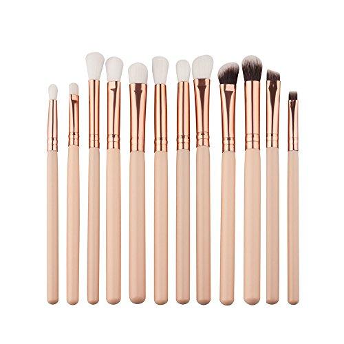 ITISME-ITISME-12 Pcs/Set Maquillage Brush Set Makeup Brushes Kit Outils Maquillage Professionnel Maquillage Pinceaux Yeux Pinceau Pour Les +1Pc Houppettes à Poudre (Z5-)