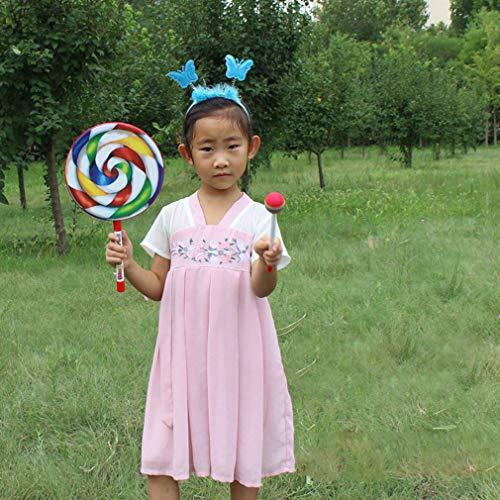 Nsdsb Rainbow Blow Lollipop Drum Orff Instrumento Musical Música Percusión Juguete Multicolor 8 Pulgadas