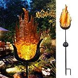 Funkelnde Solarflamme Lampe Ip65 Led Wasserdicht Gartendekoration Landschaft Licht Rasen Lampen Weg Beleuchtung Taschenlampe Licht Spot Warmweiß 19 * 25Cm