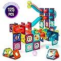 VATOS 125pcs Magnetic Tiles, 3D Magnet Building Blocks for Kids, Magnetic Preschool Building Sets, Creative Gift for Boys Girls Toddlers 3 4 5 6 7 8 Years Old