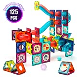 VATOS 125pcs Magnetic Tiles, 3D Magnet Building Blocks for Kids, Magnetic Preschool Building Sets, Creative Gift for Boys Girls Toddlers 3 4 5 6 7 8 Years Old