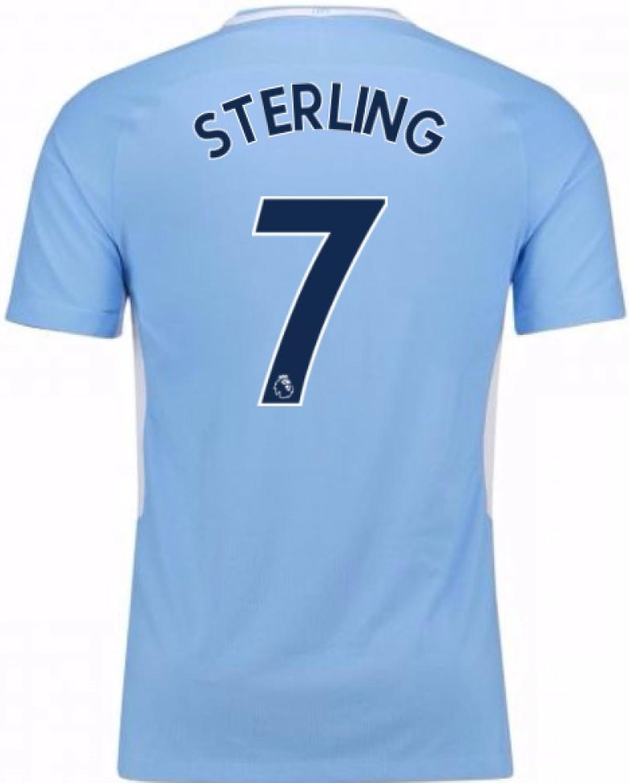 2017-18 2017-18 2017-18 Man City Home Football Soccer T-Shirt Trikot (Raheem Sterling 7) B077YSS1G9  Qualität 726499