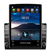 ZHNN Android 9.1 Double Din Car Stereo Radio 9.7 inch Vertical Touchscreen Head Unit with GPS in-Dash Navigation,Bluetooth,FM,WiFi,Support Rear Camera Input&Mirror Link