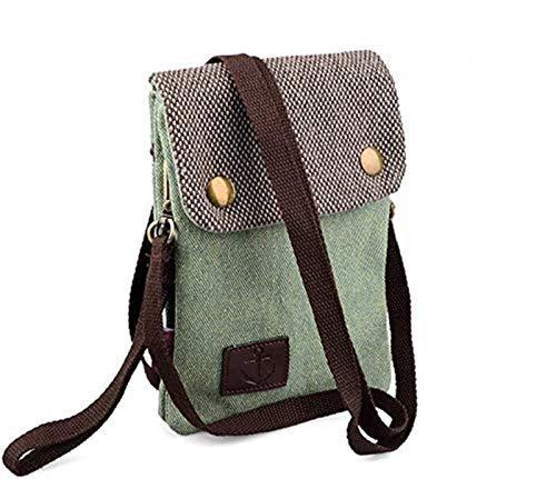iwobi Canvas Universal Handytasche zum Umhängen Geldbörse Kleine Tasche Mini Crossbody Tasche für Damen Frauen Mädchen Kinder