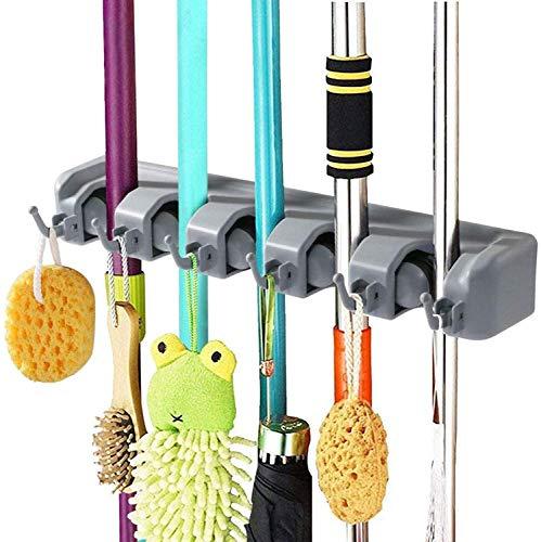 Ducomi® –Soporte para ordenar palos de escoba, herramientas de jardín y otros utensilios