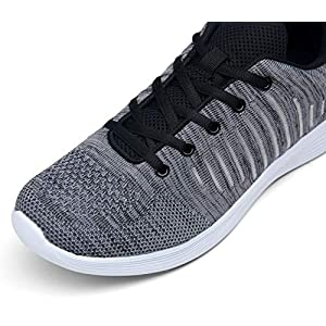VOSTEY Men's Running Shoes Sneakers for Men Athletic Shoes Grey Running Shoes for Men Grey Sneakers Mens Walking Shoes Mesh Sport Shoes (8,Grey)