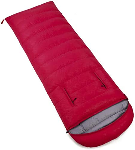Sac de couchage adulte, Camping en plein air Gardez au chaud le sac de couchage momie, Cordon de serrage rétrécissable Coupe-vent   Poitrine pouvant étendre le bras ( Couleur   rouge , taille   2.5KG )