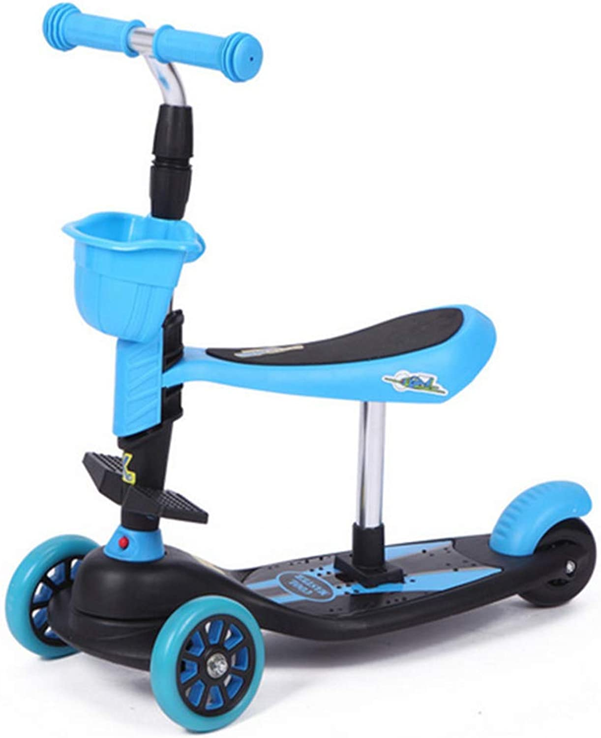 3In1 3 Wheels Kick Scooter With Removable Seat For Kids Kids Scooter With ExtraWide PU Flashing Wheels