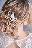Tocado blanco decorativo Kercisbeauty para el pelo hecha a mano con flor y hojas, para novias, damas de honor, niñas, bodas y fiestas