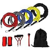 Sungpune Bandas de Resistencia dinámica Resistencia Trainer Conjunto dinámico Resistencia Entrenador físico Tubos Estiramiento Bandas de Entrenamiento Kit