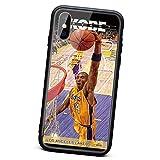 Coque Kobe pour iPhone X/XS, XR, XS Max Series, Lakers 24 Mode TPU Matériau TPU Couverture en Verre...