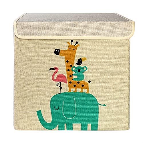 LJHSS Caja de Almacenamiento, Caja de Almacenamiento de Lino, Caja de Almacenamiento Plegable para niños de Dibujos Animados, Caja de Almacenamiento de Aperitivos de Juguete (Size : 30 * 30cm)
