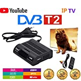 LOISK HD-99 DVB-T2 / C Set Top Sintonizador Digital, Sintonizador 1080P H.265 USB2.0 Receptor,Ayuda Cccam/Newcam Satélite Decodificador DVB-T2