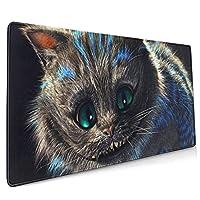 猫のデスクマットファッション薄い長方形の家庭用滑り止めデスクパッド(35.4x15.7x0.12インチ)