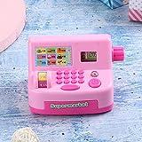 RBSD Caja registradora electrónica del niño del Aparato electrodoméstico, Caja registradora, para los niños del Dinero del Juego de los niños de Las Actividades bancarias(Pink)