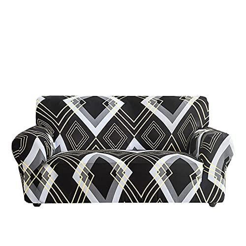 Funda de sofá Deslizante con Estampado de Rayas, Funda de sofá elástica a Prueba de Polvo Completa, decoración del hogar, Funda de sofá elástica a Prueba de Polvo A18, 1 Plaza