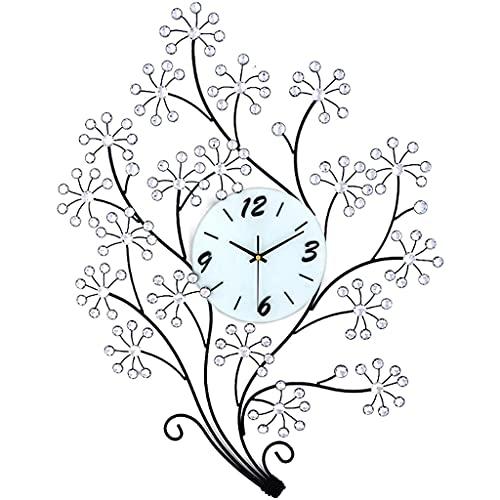 GZQDX Reloj de Pared Moderno Grande Moda Arte Mudo Relojes y Relojes Relojes Sala de Estar decoración de Personalidad silencioso Reloj de Estilo Europeo