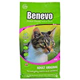 Benevo vegan cat food for adult cats 2kg. Holistic, meat-free, complete, non-gm dry food kibble for your cat. Award winning vegan pet food made in the UK.