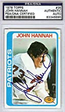 John Hannah Signed 1978 Topps Trading Card - PSA/DNA Authentication - Autographed NFL Football Memorabilia