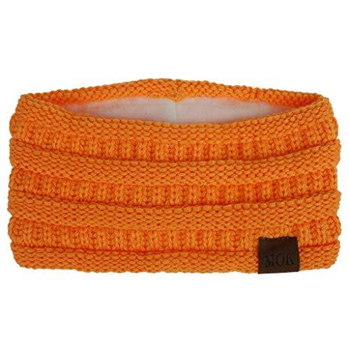 SHDS Diademas de Punto para Mujer Reino Unido Diademas de Invierno para Mujer Diadema elástica de Tejido de Cable Grueso con Forro de vellón Calentador de Orejas de Invierno térmico Turbante