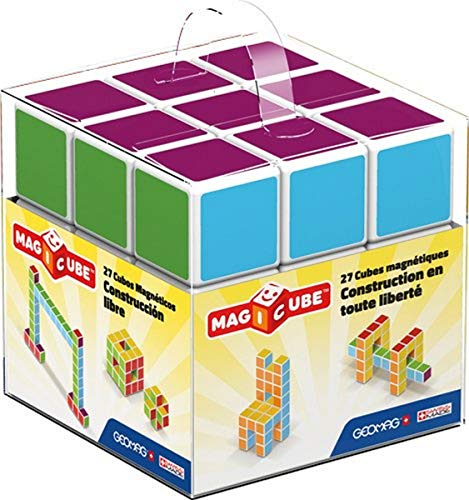 Geomag- Magicube Free Building Cubos magneticos, Multicolor, 27 Piezas (128)