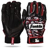 Franklin Sports MLB Digitek Baseball Batting Gloves - Gray/Red Digi - Youth Large