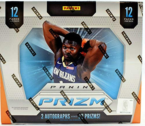 2019-20 Panini PRIZM Basketball JUMBO HOBBY Box -IN Stock - 2 Autographs Per Box - Chase ZION WILLIAMSON Silver Prizm Rookie Cards!
