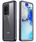 Temdan Designed for Samsung Galaxy S20 Ultra Case, Without Built-in Screen Protector Real Heavy Duty Rugged Shockproof Cases for Samsung Galaxy S20 Ultra 5G 6.9 inch 2020 Release-(Black/Clear)