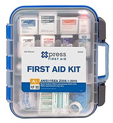 Xpress First Aid 250 Piece First Aid Kit, ANSI/OSHA Compliant by Acme United